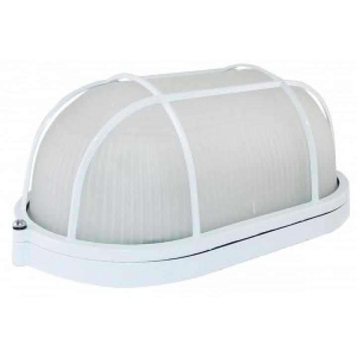 TDM светильник НПБ1202 белый/овал с решоткой 100W IP54 SQ0303-0038
