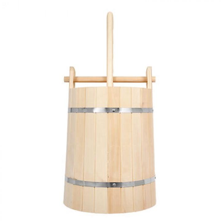 Кадка из липы 10л. для воды и солений с замком и гнетом (32702)