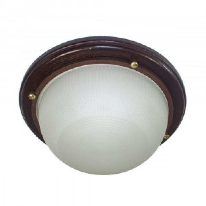 Элетех Самарканд 1301 светильник влагозащ. круг 60W Е27 баня 220x80 дерево венге/стекло IP65 (РФ) 500974
