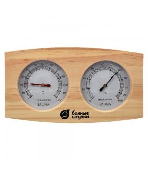 Термометр с гигрометром Банная станция 24,5*13,5*3 см, для бани и сауны