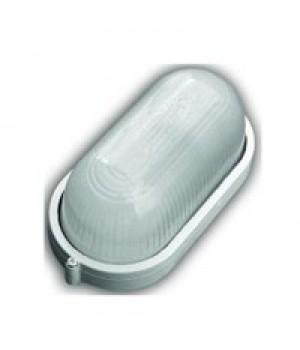 "Светильник влагозащ.овал 60W Е27 ""банник"" 210x104x77 алюм. стекло 130°С бел. НБП 04-60-001 IP54 ИУ/ГУ (РБ)"