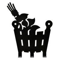"""Вешалка металлическая 3 крючка """"Веник и ушат"""" 11х13,5 см"""