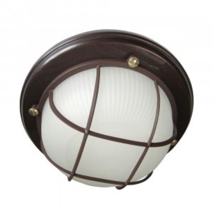 Элетех Самарканд 1302 светильник влагозащ. круг реш. 60W Е27 баня 220x85 дерево венге/стек IP65(РФ) 500977