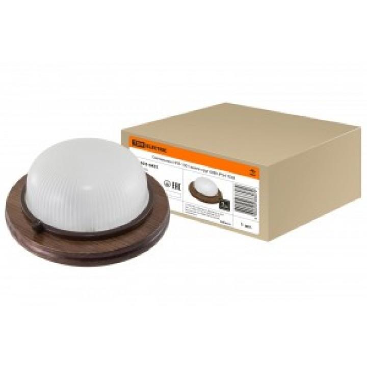 TDM светильник НПБ1301 венге круг 60Вт IP54 (сталь, термостойкое стекло) (8!) SQ0303-0431
