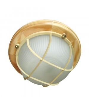 Элетех Самарканд 1302 светильник влагозащ. круг реш. 60W Е27 баня 220x85 дерево сосна/стек IP65(РФ) 500979