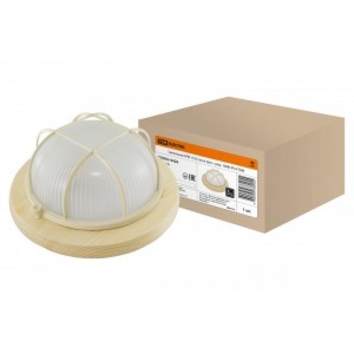 TDM светильник НПБ1102 сосна круг с решоткой 100Вт IP54 (сталь, термостойкое стекло) SQ0303-0426