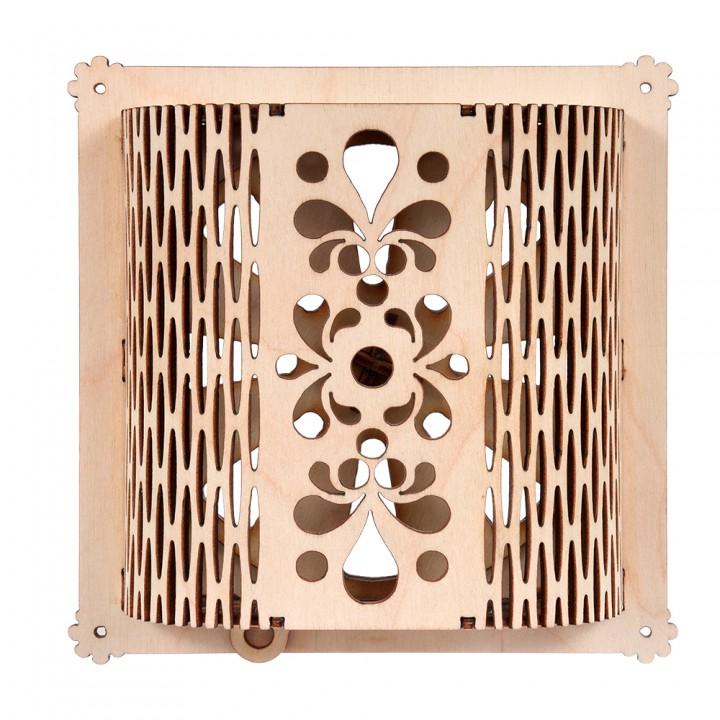 Вентиляционная задвижка резная 15,5х15,5 см