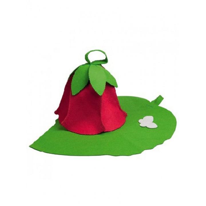"""Набор 2-х предм.(Шапка """"Дюймовочка""""+коврик""""зеленый лист"""") """"Hot Pot"""" (41125)"""