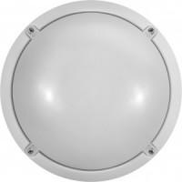 """ОНЛАЙТ светильник светодиодный влагозащ. круг 12W(900lm) 4K d218x88 пласт. """"банник"""" OBL-R1-7-IP65,71686"""