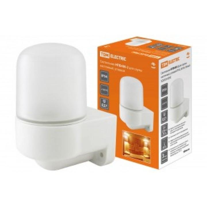 TDM светильник НПБ400-2 баня/сауна белый угловой 60W IP54 керам. осн/жаропрочн. стекло SQ0303-0050