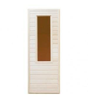 """Дверь со стеклом """"Соло"""", липа сорт А"""
