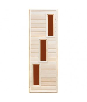 """Дверь со стеклом """"Трио"""", липа сорт А"""