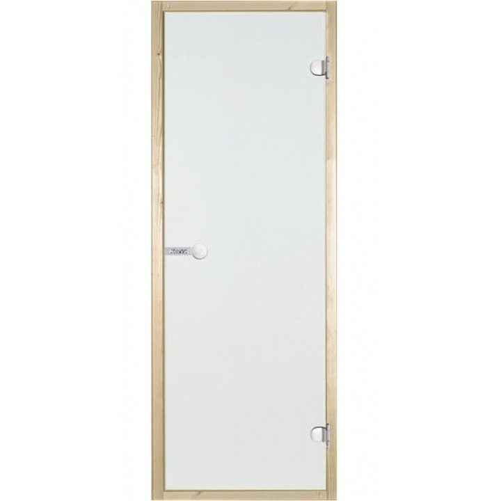 Дверь для сауны Harvia STG 7x19 KI. Стекло прозрачное. Коробка сосна.
